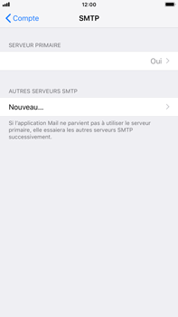 Apple iPhone 8 Plus - iOS 12 - E-mail - Configuration manuelle - Étape 20