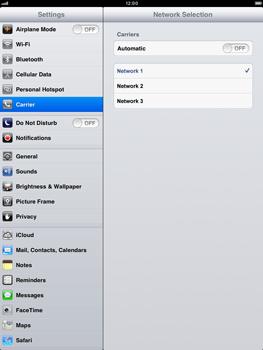 Apple iPad mini - Network - Usage across the border - Step 7