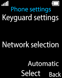 Nokia 108 - Network - Usage across the border - Step 5
