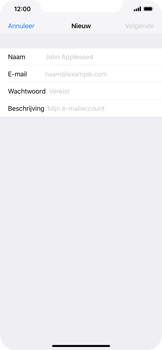 Apple iPhone XS Max - E-mail - e-mail instellen: IMAP (aanbevolen) - Stap 7