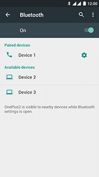OnePlus 2 - WiFi and Bluetooth - Setup Bluetooth Pairing - Step 8