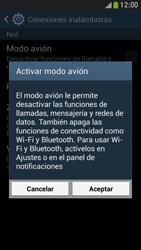 Samsung Galaxy S4 Mini - Funciones básicas - Activar o desactivar el modo avión - Paso 6
