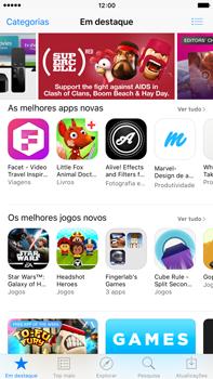 Apple iPhone 6s Plus - Aplicações - Como pesquisar e instalar aplicações -  3