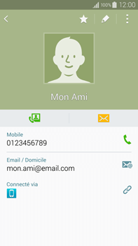 Samsung Galaxy Note 4 - Contact, Appels, SMS/MMS - Ajouter un contact - Étape 12