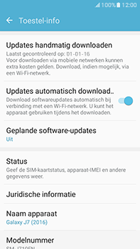 Samsung Galaxy J7 (2016) (J710) - Netwerk - Software updates installeren - Stap 6