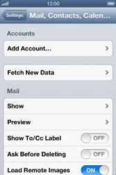 Apple iPhone 4 S iOS 6 - Email - Manual configuration - Step 4