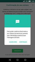 Huawei Y6 (2017) - Aplicações - Como configurar o WhatsApp -  11