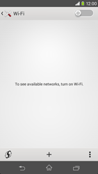 Sony D2303 Xperia M2 - WiFi and Bluetooth - Manual configuration - Step 5