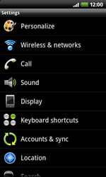 HTC A7272 Desire Z - MMS - Manual configuration - Step 4