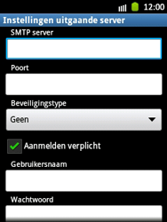 Samsung S5300 Galaxy Pocket - E-mail - handmatig instellen - Stap 11