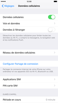 Apple Apple iPhone 6s Plus iOS 9 - Internet - activer ou désactiver - Étape 4