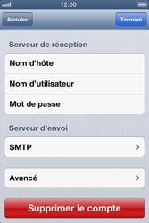 Apple iPhone 4 S - iOS 6 - E-mail - Configurer l