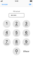 Apple iPhone SE - iOS 11 - Sécuriser votre mobile - Personnaliser le code PIN de votre carte SIM - Étape 7
