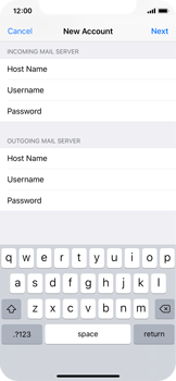 Apple iPhone X - Email - Manual configuration - Step 14