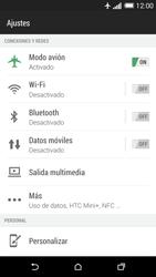 HTC One M8 - Funciones básicas - Activar o desactivar el modo avión - Paso 5