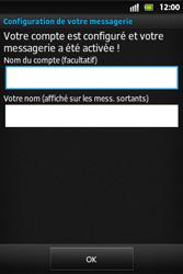 Sony ST27i Xperia Go - E-mail - Configuration manuelle - Étape 15