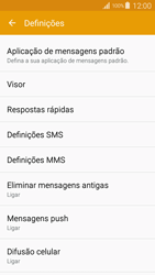 Samsung Galaxy S4 LTE - SMS - Como configurar o centro de mensagens -  6