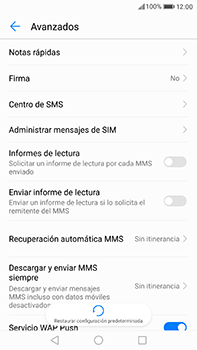 Huawei P10 Plus - Mensajería - Configurar el equipo para mensajes de texto - Paso 6