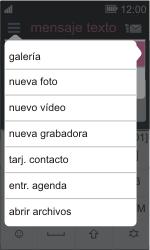 Nokia Asha 311 - Mensajería - Escribir y enviar un mensaje multimedia - Paso 12