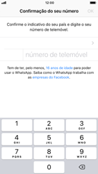 Apple iPhone 7 - iOS 12 - Aplicações - Como configurar o WhatsApp -  8