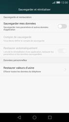Huawei Ascend G7 - Device maintenance - Retour aux réglages usine - Étape 6