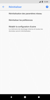 Google Pixel 2 XL - Device maintenance - Retour aux réglages usine - Étape 7