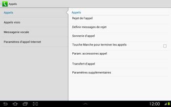 Samsung P5100 Galaxy Tab 2 10-1 - Messagerie vocale - configuration manuelle - Étape 6