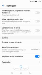Huawei P10 - SMS - Como configurar o centro de mensagens -  6