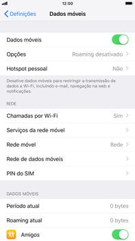Apple iPhone 8 Plus - iOS 12 - Internet no telemóvel - Como ativar os dados móveis -  5