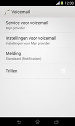Sony Xperia E1 (D2005) - Voicemail - Handmatig instellen - Stap 6