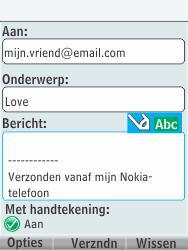 Nokia 301-1 - E-mail - Hoe te versturen - Stap 11
