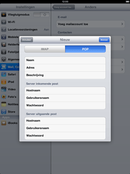 Apple iPad 2 - E-mail - e-mail instellen: POP3 - Stap 8