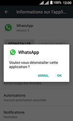 Alcatel U3 - Applications - Supprimer une application - Étape 7