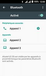 Alcatel U3 - Internet et connexion - Connexion avec un équipement multimédia via Bluetooth - Étape 9
