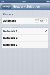 Apple iPhone 4 S iOS 6 - Network - Usage across the border - Step 6