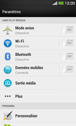 HTC Desire 500 - Wifi - configuration manuelle - Étape 3