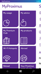 Microsoft Lumia 550 - Applications - MyProximus - Step 12