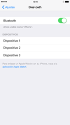 Apple iPhone 6 iOS 8 - Bluetooth - Conectar dispositivos a través de Bluetooth - Paso 5