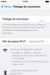 Apple iPhone 4S (iOS 8) - Internet et connexion - Partager votre connexion en Wi-Fi - Étape 5