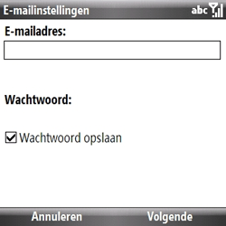 Samsung B7330 Omnia Pro - E-mail - handmatig instellen - Stap 5