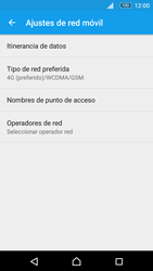 Sony Xperia M5 (E5603) - Red - Seleccionar el tipo de red - Paso 6