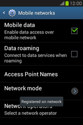 Samsung S6810P Galaxy Fame - Network - Usage across the border - Step 11