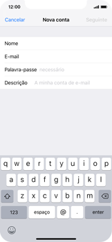 Apple iPhone X - iOS 12 - Email - Configurar a conta de Email -  9