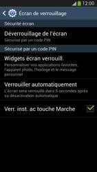 Samsung Galaxy S4 - Sécuriser votre mobile - Activer le code de verrouillage - Étape 12