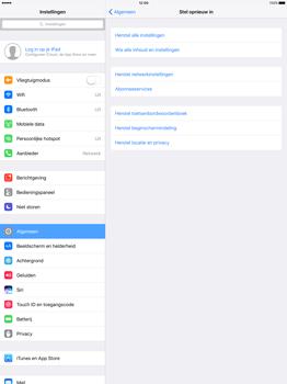 Apple iPad Pro 12.9 inch (Model A1671) - Instellingen aanpassen - Fabrieksinstellingen terugzetten - Stap 4