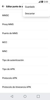 LG G6 - Mensajería - Configurar el equipo para mensajes multimedia - Paso 15