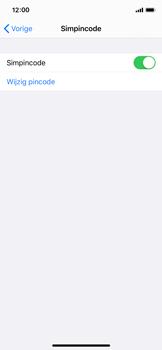 Apple iPhone X - iOS 13 - Beveiliging - pas de pincode voor je simkaart aan - Stap 12