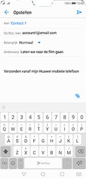 Huawei P20 Pro Dual-SIM (Model CLT-L29) - E-mail - Bericht met attachment versturen - Stap 8