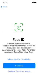 Apple iPhone X - iOS 12 - Primeiros passos - Como ativar seu aparelho - Etapa 10