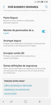 Samsung Galaxy S8 - Android Oreo - Segurança - Como ativar o código PIN do cartão de telemóvel -  5